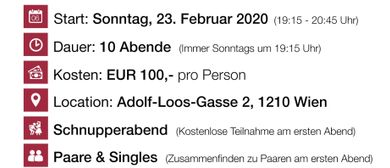 Einsteigerseminar Wien-Floridsdorf Frühjahr 2020