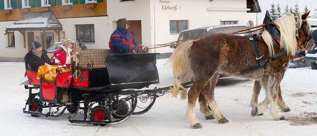 Pferdeschlittenfahrt in Damüls: ABGESAGT