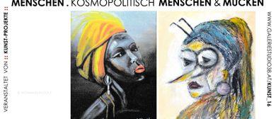 Menschen. Kosmopolitisch Menschen und Mücken