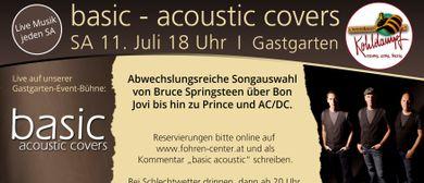 basic - acoustic covers live im Gastgarten Fohren Center