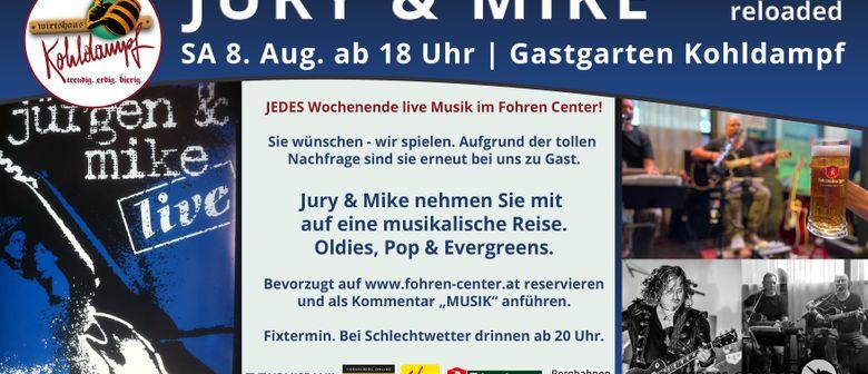 Jury & Mike live im Kohldampf Gastgarten Fohren Center