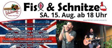 Fish & Schnitzel live im Gastgarten Fohren Center