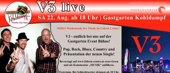 V3 live im Fohren Center Gastgarten