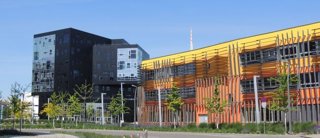 Moderne Architektur am Rande des Praters