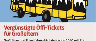 Vergünstigte Öffi-Tickets  für Großeltern