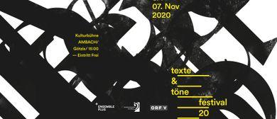 Festival Texte und Töne 2020