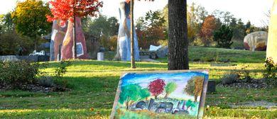 Malen im Skulpturenpark