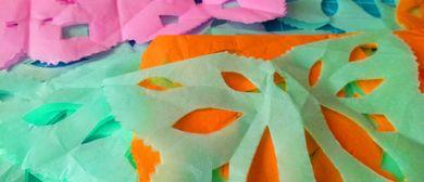 Kinder Künstler Kurse:  Papel Picado - Papier im Raum