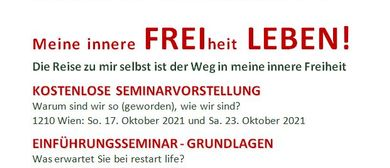 """Wir starten unsere """"FREI LEBEN""""-Tour in WIEN am 17. Oktober"""