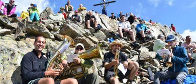 Gipfelmesse auf der östlichen Eisentälerspitze