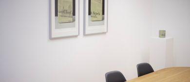 Künstlergespräch mit Norbert Pümpel in den Büroräumen