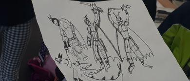 Kinder Künstler Kurse: Comics - Helden in Action