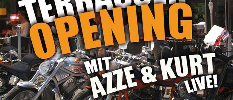 Terrassen Opening mit Azze & Kurt live