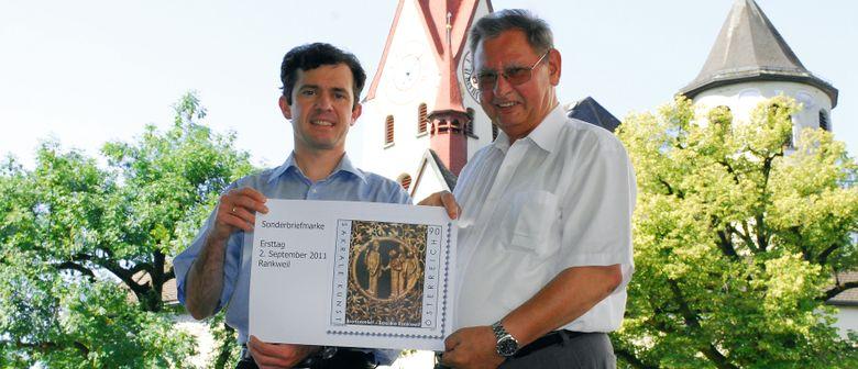 """Sonderbriefmarke """"Bronzerelief-Basilika Rankweil"""""""